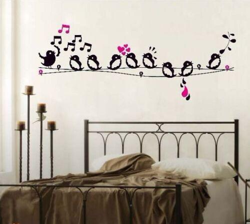 Singing Birds High Quality Vinyl Girls Kids Children Bedroom Wall Stickers