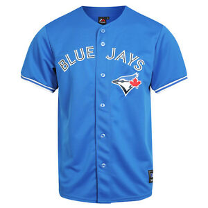 pretty nice f3638 4bda5 Details about Majestic MLB Toronto Blue Jays Alternate Replica Jersey -  Royal