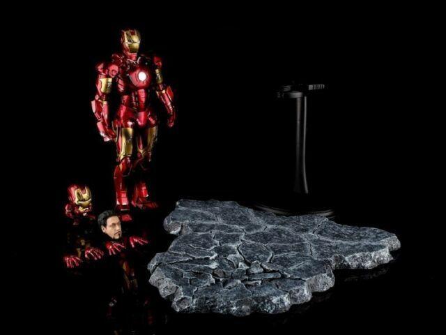EZHOBI TOYS HYPER GOKIN Iron Man Mark III 3 Battle Damage 1//10 Figure w// Base