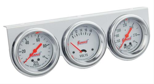 "Summit Gauge Kit Analog Console 2 5//8/"" Water Temperature Oil PSI Voltmeter"
