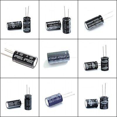 Radial Electrolytic Capacitors-Wide Range Of Value,Voltage 22uF~10000uF 16V~450V