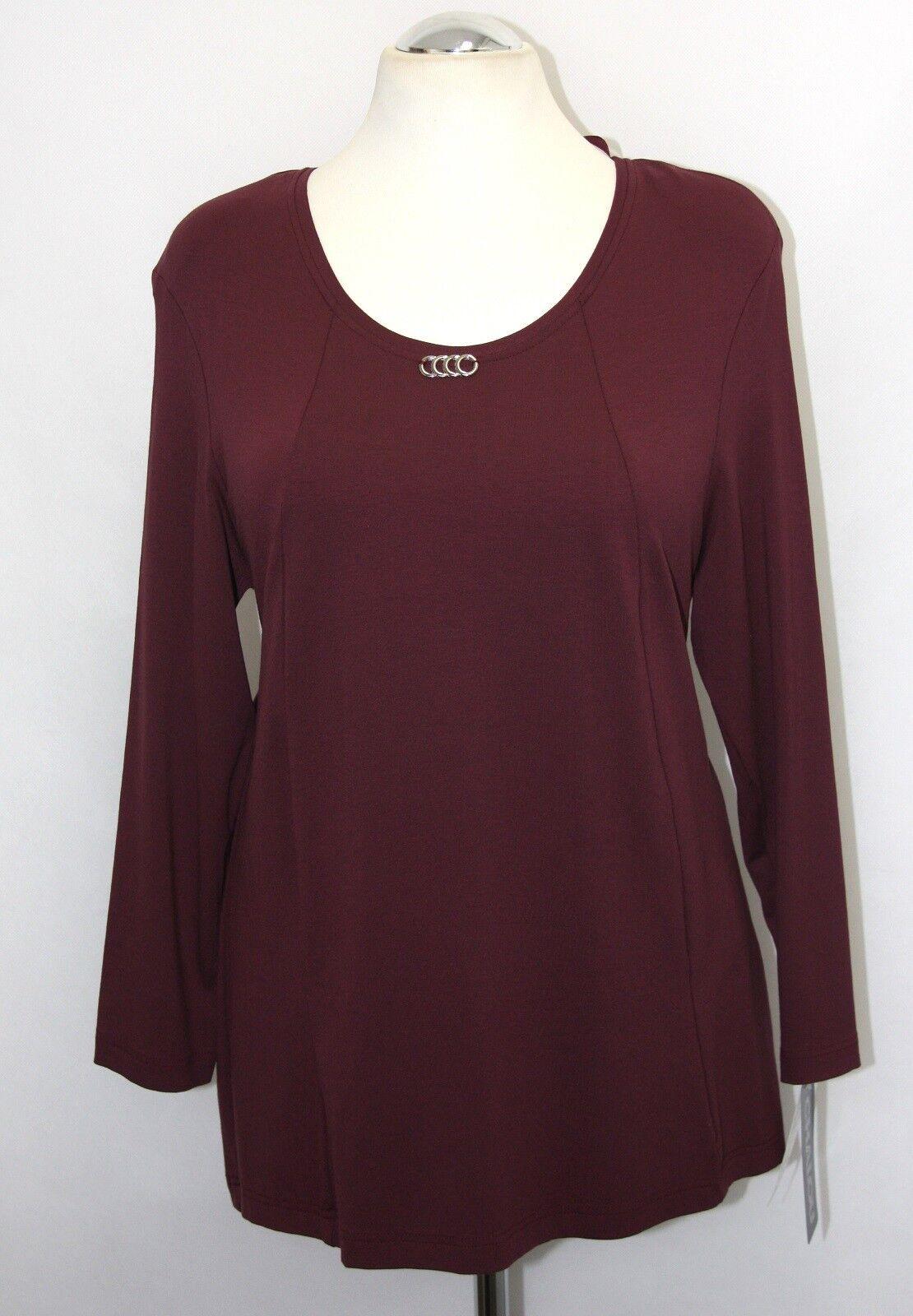 Chalou +  Shirt Tunika - beerenrot - A-Linie -Jersey  -  NXXL