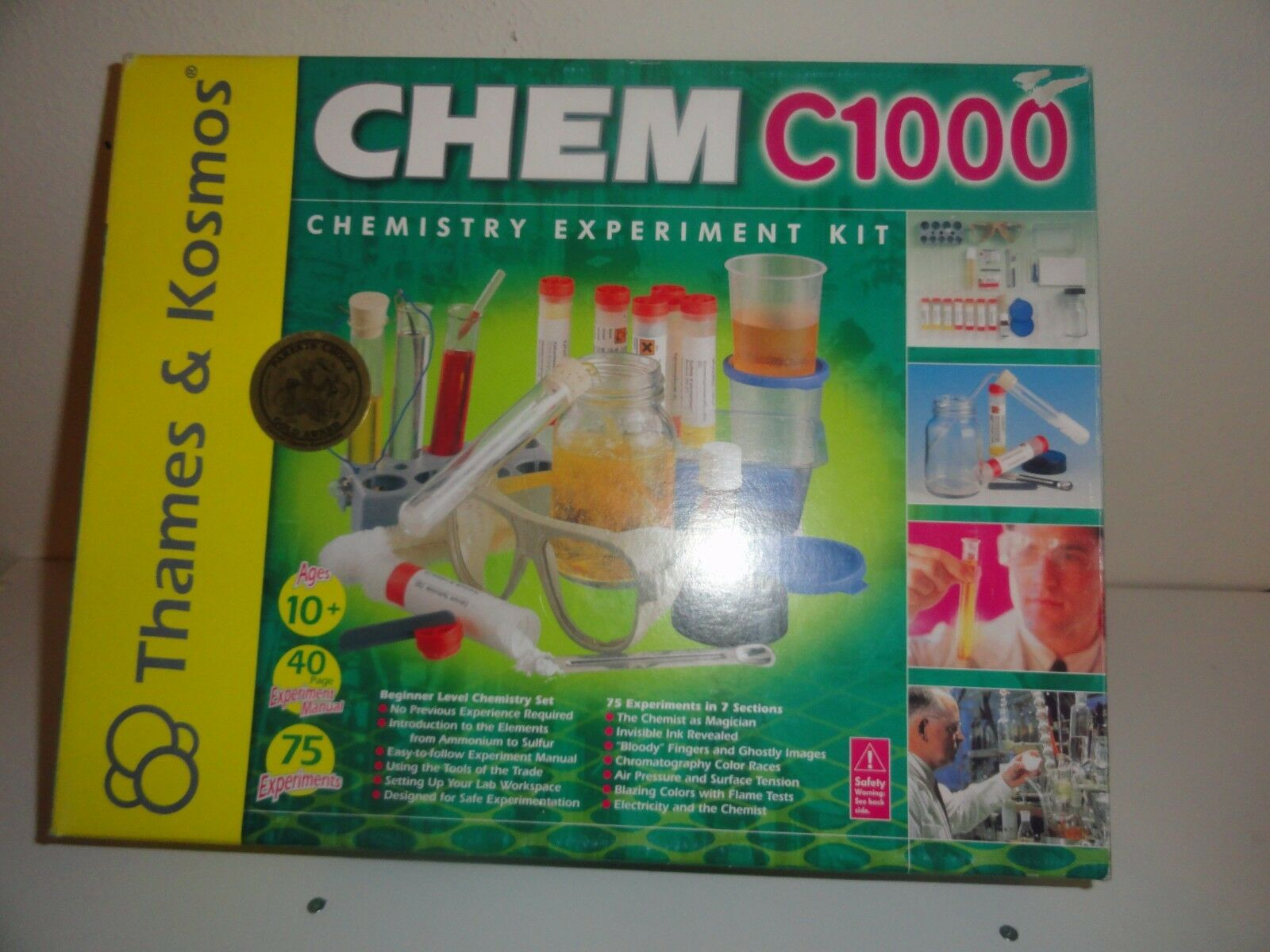 CHEM C1000 CHEMISTRY EXPERIMENT KIT