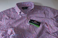 Vineyard Vines Performance Murray Shirt Brigantine Gingham Slim Fit Medium M
