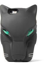 STELLA MCCARTNEY Crystal embellished black cat silicone iPhone 6 6S phone case