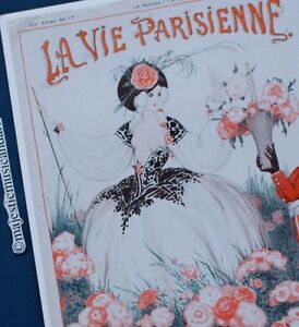 LA-VIE-PARISIENNE-1922-ORIGINAL-PRINT-OFFSET-LITHOGRAPH-FROM-PARIS