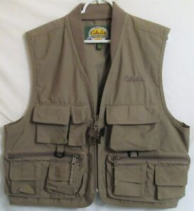 100% Vrai Cabelas Pour Femmes Taille L Gris Foncé Kaki Couleur Outdoor Fishing Vest-afficher Le Titre D'origine