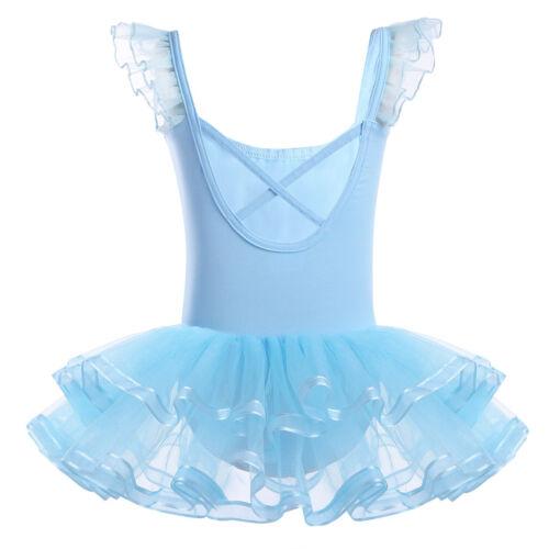 Girl Gymnastics Ballet Dress Leotard Dancewear Unitard Ballerina tutu Costume