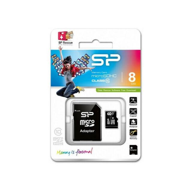Carte Mémoire SDHC Silicon Power 8GB Cours 10