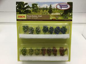 Pack 14 Tasma Products 00674 OO//HO Gauge Flowering Bushes