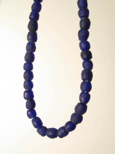 Recyclingglasperlen 6-7mm blau Krobo Recycling Powder Glass Beads Afrozip