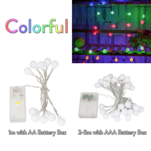 LED String Fairy Lights 1M 2M 3M Xmas Round Ball Bulb Wedding Party Lamp SS885
