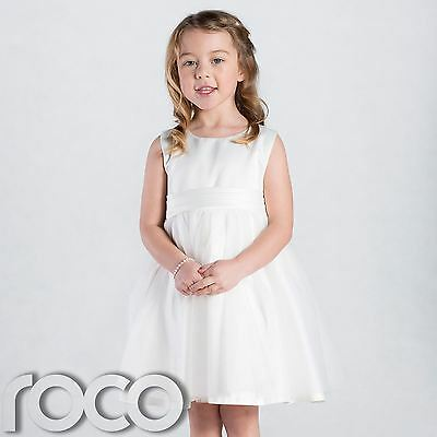 Girls Ivory Flower Girl Dress, Girls Bridesmaid Dress