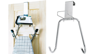 Image is loading Polder-Over-The-Door-Ironing-Board-Hanger-Holder-  sc 1 st  eBay & Polder Over The Door Ironing Board Hanger Holder T-Leg Ironing Board ...