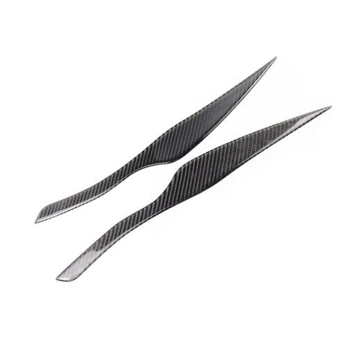 Carbon Fiber Headlight Eyebrow Eyelid Trim Fit For BMW E90 E91 3 Series 2005-12