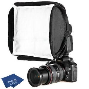 Phot-R-23cm-9-034-Mini-Portable-Folding-Softbox-Diffuser-Flashguns-Microfibre-Cloth
