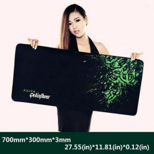1 Pcs 700*300*3MM Rubber Razer Goliathus Edition Speed Game Mouse Pad Mat Locked