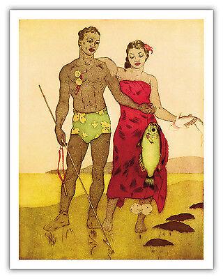 Aloha Hawaii by Vintage Vacation Art Print Maui Big Island Molokai Poster 16x23