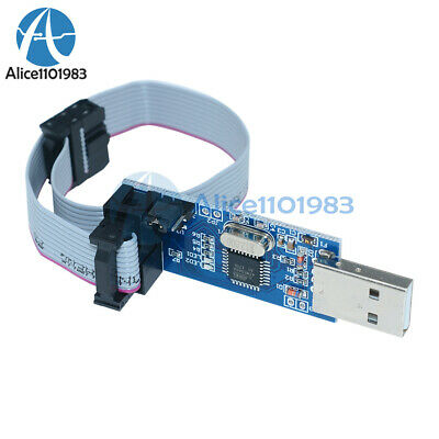 USBASP USBISP AVR Programmer Adapter 10 Pin Cable USB ATMega8A Module Arduino
