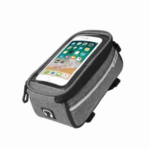 Waterproof MTB Mountain Bike Frame Front Bag Pannier Hiking Phone Holder HOT!