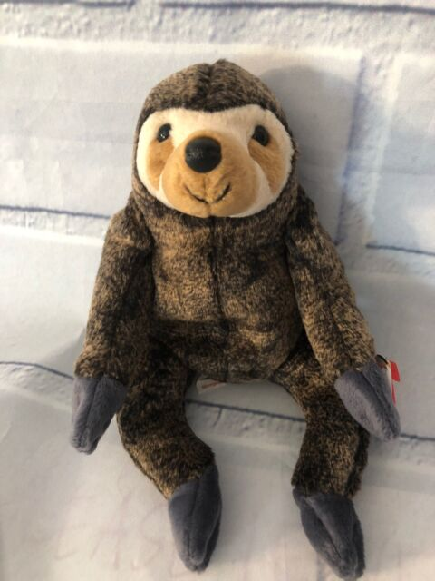 8cd5896bcfe NWT TY Beanie Baby Slowpoke the Sloth New Mint DOB 5 20 1999 Brown