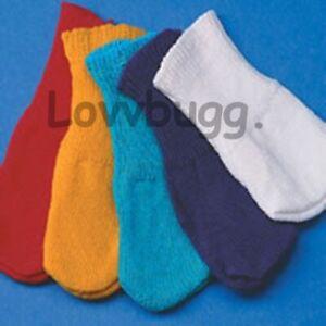 "Dark Navy Blue Crew Socks for American Girl 18/"" or Baby Doll or Preemie LOVVBUGG"