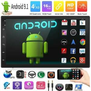 Double 2DIN Android 9.0 10in Car Stereo MP5 GPS Navi Bluetooth WiFi FM Radio UK