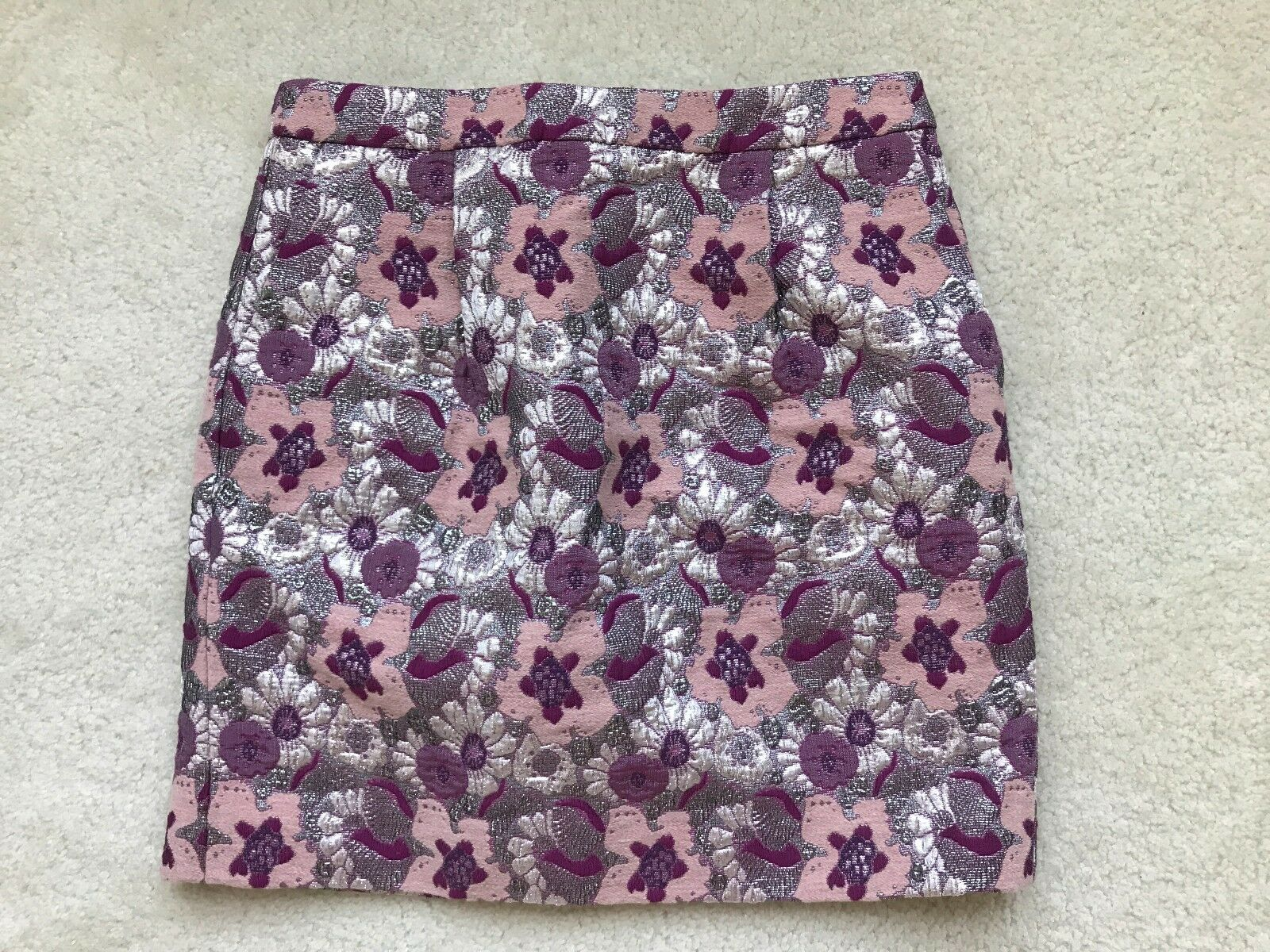 New Women J.Crew Collection Floral Pencil Skirt, Size 4