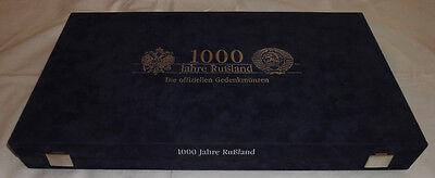 LUXUSKASSETTE für 18 GEDENKMÜNZEN - 1000 Jahre Russland - ANSEHEN (11912N)