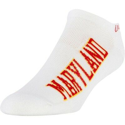 mens M/4-8.5 lot of 3 crew/no show socks under armour university maryland terps