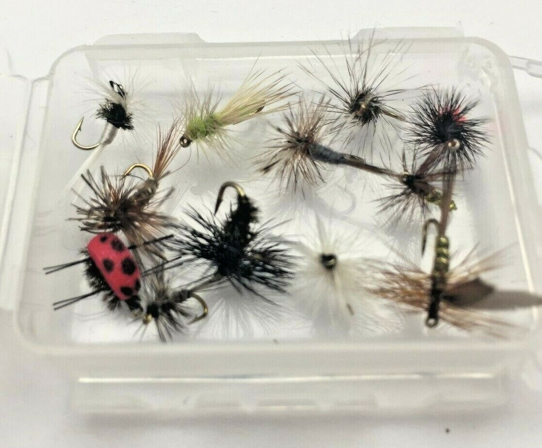 1 Doz  BLUE QUILL dry flies size 12-14 for trout fly fishing MUST C