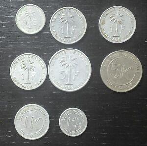 lot-n-3-8-monnaies-munten-Congo-Belge-Belgisch-Congo