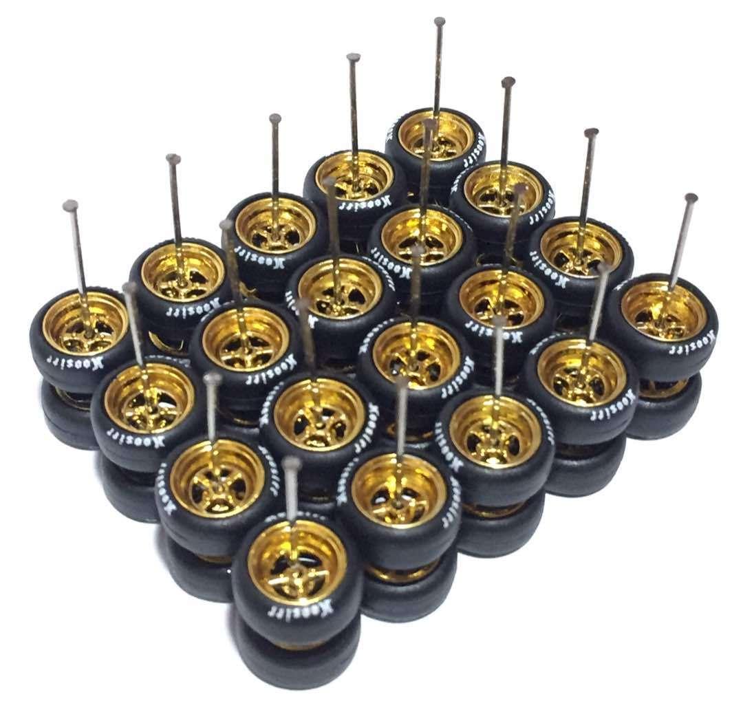 1 64 rubber tires - Hoosier fit Hot Wheels Japan Historic diecast - 10 sets