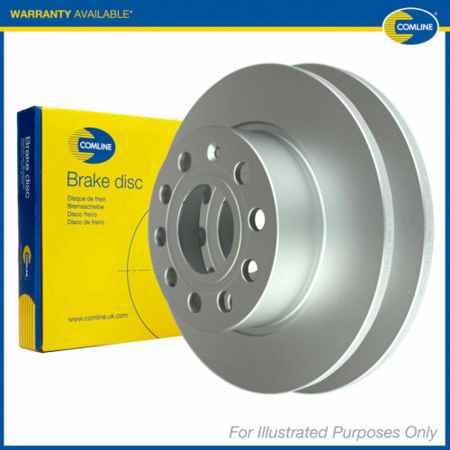 Genuine Comline 5 Stud Rear Solid Brake Discs ADC3013