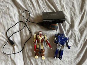 Transformers Prime Takara Device label Soundwave Blaster Lot Fansproject Bonus