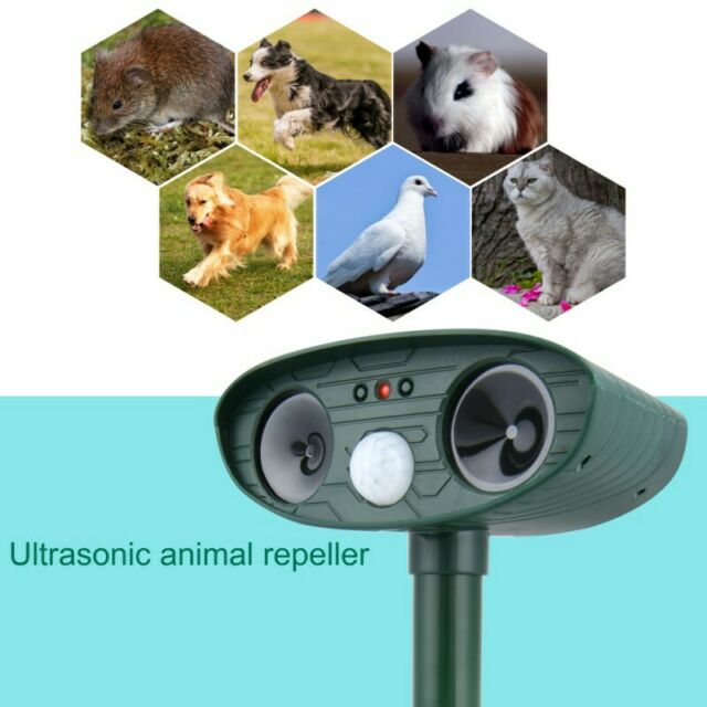 Solar Powered Ultrasonic Sonic Mouse Mole Pest Rodent Mosquito Repellent Yard US