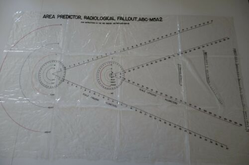Radiological Fallout ABC-M5A2 Area Predictor Military Map Chart