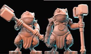 28mm-Warrior-Toad-Bullywog-D-amp-D-Bestiary-multi-listing