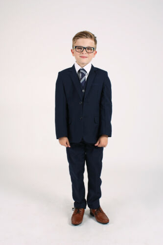 0-3 to 14 Yrs Boys Wedding Suits Boys Suits Navy or Black Page Boy Suits