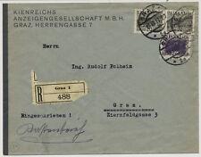 ÖSTERREICH 1933 REKO-ORTSBRIEF, GRAZ