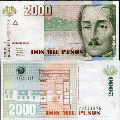 COLOMBIA 2000 2,000 PESOS 2005 P 451 UNC