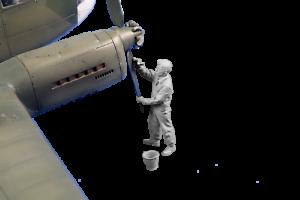 Cmk F48359 Resina 1//48 Siebel Si-204 Aero C-3 Rigger Figura