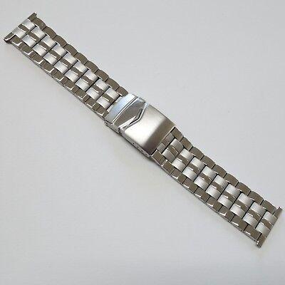 Gliederband 24 Mm Faltverschluss Latest Fashion Bonflair Edelstahl Uhrenarmband