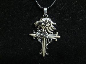 Final fantasy 8 viii griever necklace pendant ebay image is loading final fantasy 8 viii griever necklace pendant mozeypictures Images