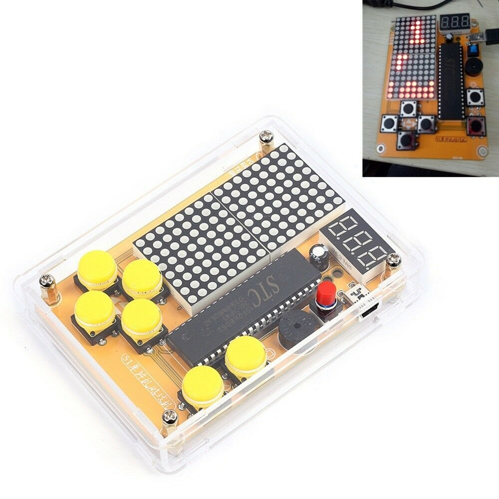 Details about DIY Kit Game Creative Electronic Making with Shell for  Tetris/Snake/Plane/Racing