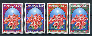 Jamaica 2005 MNH Christmas 4v Set Flowers Star