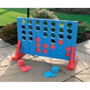Nuevo-gigante-4-in-approx-10-16-cm-una-fila-juego-familia-Kids-Play-Set-Diversion-Interior-Al-Aire