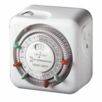 Intermatic 15 Amp Heavy Duty Grounded Timer Indoor Electrical Outlet Plug Heater