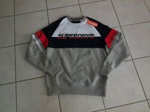 """PULL SWEAT """" SUPERDRY"""" HOMME Taille M gris"""
