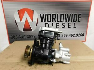 2009-Detroit-DD15-Air-Compressor-with-Power-Steering-Part-K019983